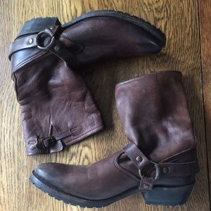 Buttery soft brown leather boots.